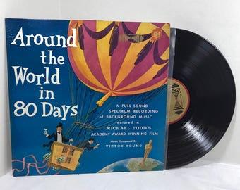 Around The World In 80 Days Soundtrack vinyl record 1958 Cinema Sound Stage Orch EX