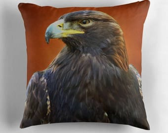 Eagle Pillow, Eagle Cushion, Golden Eagle, Eagle Decor, Eagle Throw Pillow, Bird Pillow, Bird Cushion, Raptor Decor, Wildlife Pillow