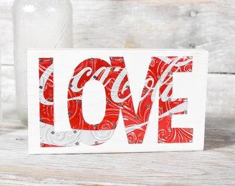 Coke Coca Cola Love Soda Can Art 10th Anniversary Wedding Valentine