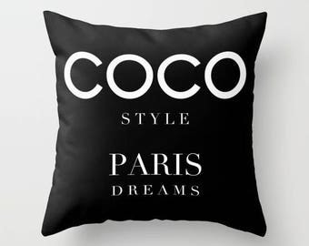 Paris Pillow, Fashion Pillow, Velvet Pillow Cover, Fashion Decor, Girls Room Decor, Dorm Decor, Teen Girl Room Decor, Gifts for Her