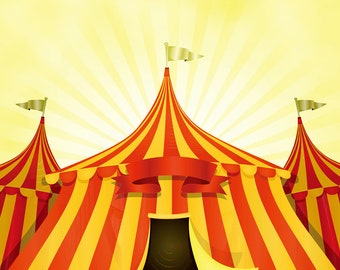 Carnival circus tent photography backdrop birthday party holiday celebration photoshoot backgroundstudio photography backdrops & Circus tent backdrop | Etsy