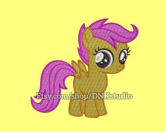 Scootaloo My Little Pony Embroidery Design - 6 Sizes - INSTANT DOWNLOAD