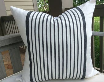 "Ralph Lauren ""Montmarte Stripe "" in black and white-Pillow Cover!!!"