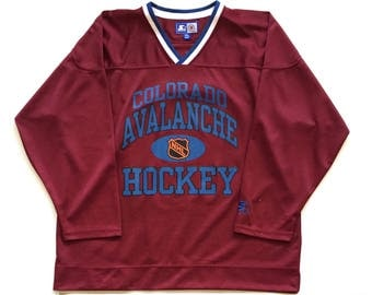 Vintage Starter colorado avalanche joe sakic #19 Throwback NHL Hockey Jersey men's home jersey XXL officially licensed product 1996 playoffs