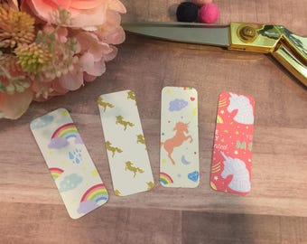 Unicorn and Rainbow-Themed Page Markers