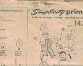 Vintage Sewing Pattern for Toddlers Trousers Dungarees and Jacket by Simplicity (A47)