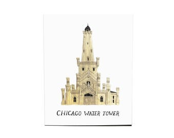 8x10 Chicago Watertower Print