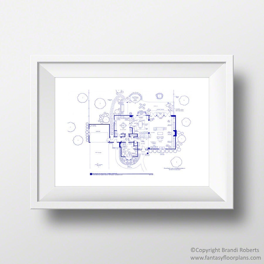 bewitched tv show house floor plan blueprint poster for home