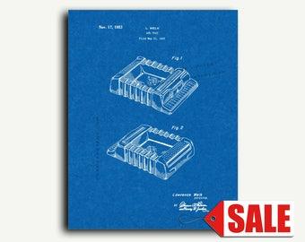 Patent Art - Ash Tray Patent Wall Art Print