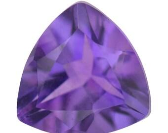 African Amethyst Loose Gemstones Trillion Cut 1A Quality 8mm TGW 1.35 cts.