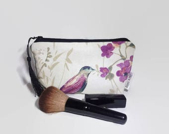 Floral Makeup Bag, Make up Bag, Cosmetic Bag, Toiletry Bag, Cosmetics Bag, Wash Bag, Travel Bag, Zip Pouch, Gift for her, Mothers Day