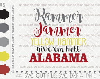 Digital Download- Cut file, Football Svg, Bama Svg, Silhouette Cut File, SVG Saying, dxf file, ai file, Silhouette Cameo, Cricut Alabama