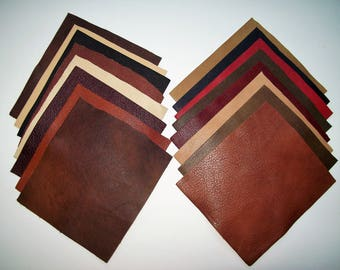 leather samples 16pack 6x6