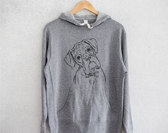Cooper the Boxer - Grey French Terry - Unisex Slim Fit
