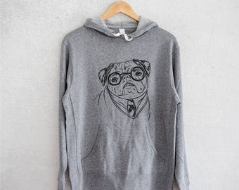 Harry Pugger - Grey French Terry - Unisex Slim Fit