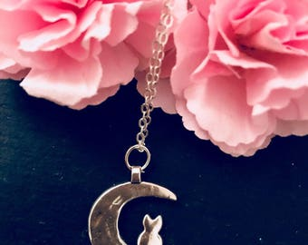 Cat Necklace Moon Cat