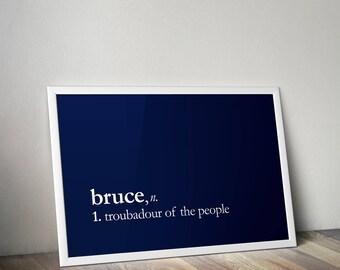 Bruce Springsteen & E Street Band Dictionary Typo art