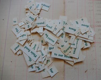 Vintage Word Sentence Game Small Flash Cards