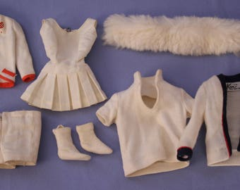 Vintage Barbie and Ken TLC Whites Clothing Lot