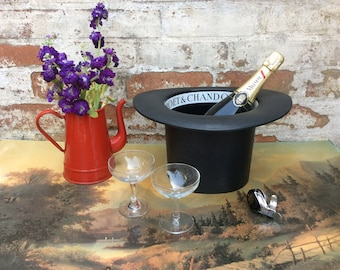 Vintage French Moët Top Hat Champagne Ice Bucket, Wedding Wine Cooler Top Table