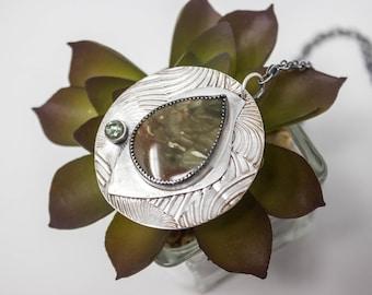 Carrasite Fine Silver Necklace - GD319