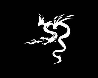 Dragon Decal,Dragon With Flame Decal,Laptop Sticker,Bumper Sticker,Yeti Decal,Tumbler,Tablet,Wall,Window,Flame Sticker,Phone Decal,Dragons