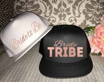 Bridal Party Hats BRIDE TRIBE