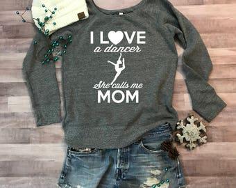 Dance Mom Wideneck Fleece