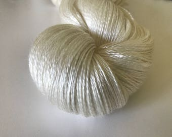 Natural Silk Lace Yarn (Cone or Hank)