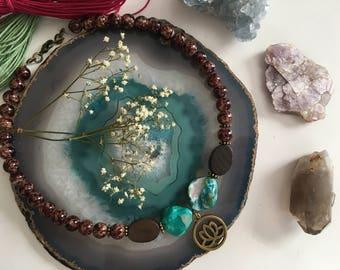 Aqua Lotus Necklace // Bracelet