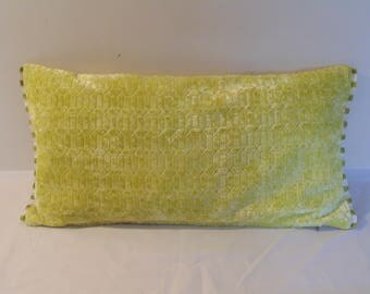Designers Guild Fabric Perreau Chartreuse 12 x 24 inch Cushion Cover