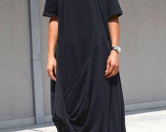 SALE 25% OFF Extravagant Black Dress / Asymmetric black dress / KOTYTOstyleLAB