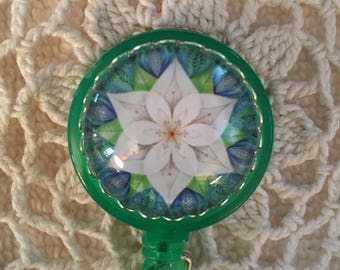Flower Retractable Badge Holder