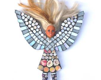 Fairy figurine - art doll - unusual gift - funky fairy - humour gift  - art lover gift - fairy doll - satirical gift