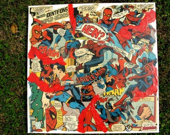 """Great & SPIDER"" COLLAGE COMICS comic book from the 70s"