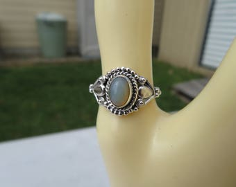 Handcrafted Natural Ethiopian Opal 925 Sterling Silver Ring Size 7, Weight 3.1
