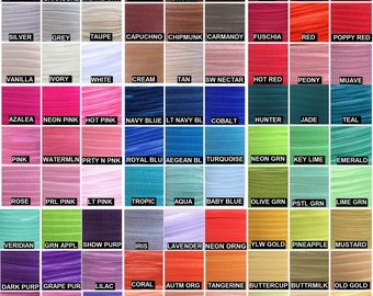 """Fold Over Elastic Wholesale 5/8"""", Elastic for Baby Headbands and Hair Ties, 5/8"""" FOE By the Yard, 5 or 10 yards over 80 Colors LISTING # 2/2"""