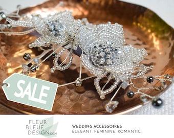 pearl headpiece   wedding hair accessories    pearl hair comb   bridal hair comb   beaded headpiece   bridal flower hairpiece