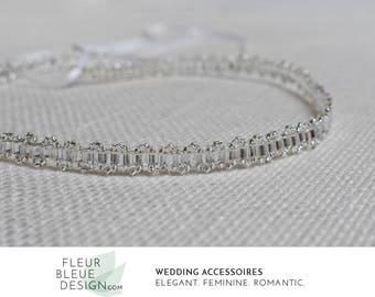 crystal headband | bridal headband | bridal silver crown | rhinestone headband | headband crystals | wedding hair band | boho headband