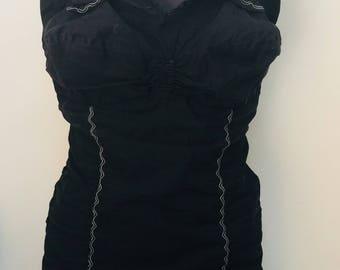 Black vintage plus size 1950s xl swimsuit