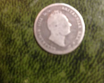 Silver William IV Four Pence Piece Dated 1836