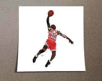 Michael Jordan Poster Design 23 Printed on 185 gsm semi gloss poster paper with 0.19 inch/0.5 cm white border to assist in framing