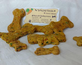 Carrot & Spinach - Gourmet dog treats - lucky dog biscuits