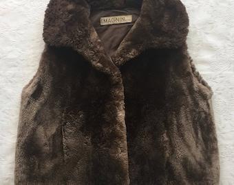 Sheared Beaver Fur Vest