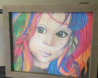 Colorful Child Print