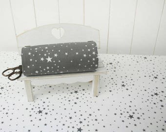Stars Pattern Cotton Fabric by Yard - 2 Colors Selection