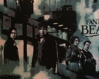 Cotton Fabric by the 1/4 Yard - Fantastic Beasts and Where to Find Them Cotton