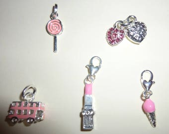 A set of five charms