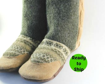 Mothers Day Gift- Gift for Wife- Slipper Boots- Womens Slippers- Cozy Gifts- Wool Slippers- Mom Gifts- Grandma Gift- Last Minute Gift Ideas