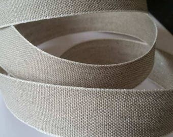 Lace, Ribbon 100% natural linen, 2.8 cm wide. Sold per 1 meter